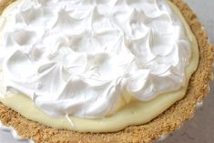 meringue topped key lime pie