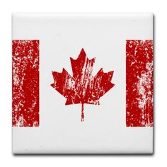 "Canada Flag Pride Tile Coaster by CafePress . $12.50. Four felt pads protect your furniture from scratches. 4.25"" x 4.25"" and 1/6-inch thick. Not for use with abrasive cups and mugs. Ceramic. Dishwasher safe. Canada, O, Canadian, Canadia, Flag, Maple, Leaf, Moose, Punk, Grunge, Distressed, Oh, Pride, Syrup, Hockey, Country, Montreal, Toronto, Quebec, Ontario"