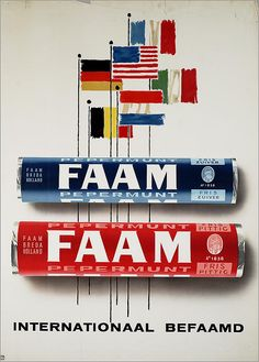 FAAM pepermunt - Internationaal befaamd - Fabriek van suikerwerken De Faam, Breda