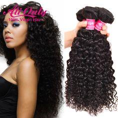 Brésilienne Vague Vierge de Cheveux 4 Bundles Cheveux 7A Non Transformés Brésiliens Bouclés Vierge Cheveux Brésiliens Cheveux Weave Bundles