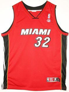 Champion NBA Basketball Miami Heat #32 Shaquille O'Neal Authentic Trikot / Jersey Size XL - 89,90€ #nba #basketball #trikot #jersey #ebay #sport #fitness #fanartikel #merchandise #usa #america #fashion #mode #collectable #memorabilia #allbigeverything