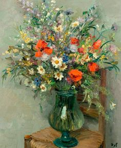 Marcel Dyf ~ The Impressionist flowers