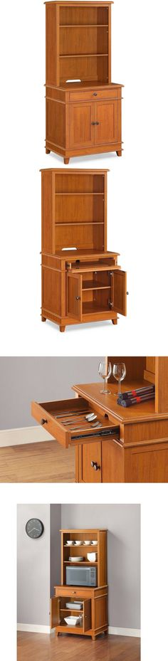 Kitchen Islands Kitchen Carts 115753: Microwave Cart Cherry Kitchen Stand Freestanding Storage Cabinet Unit Wood New -> BUY IT NOW ONLY: $78.25 on eBay!