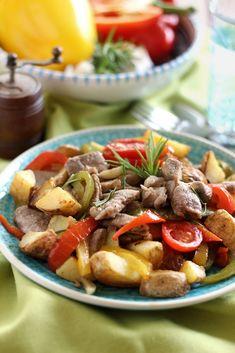 Juditka konyhája: ~ PAPRIKÁS SERTÉSSZŰZRAGU ~ Kung Pao Chicken, Steak, Pork, Ethnic Recipes, Red Peppers, Kale Stir Fry, Steaks, Pork Chops