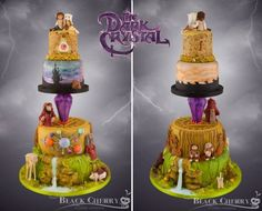 Dark Crystal Wedding Cake