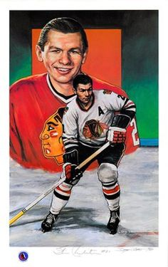 Stan Mikita Autographed Limited Edition Legends of Hockey Lithograph Women's Hockey, Blackhawks Hockey, Hockey Girls, Chicago Blackhawks, Hockey Stuff, Detroit Baseball, Pittsburgh Penguins Hockey, Hockey Hall Of Fame, Nhl Highlights