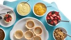 Mini Tart Buffet! Pudding,Cool Whip, homemade jam, yogurt, marshmallow! Possibilities are endless!