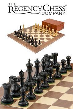 Highgrove Walnut Chess Set with Case