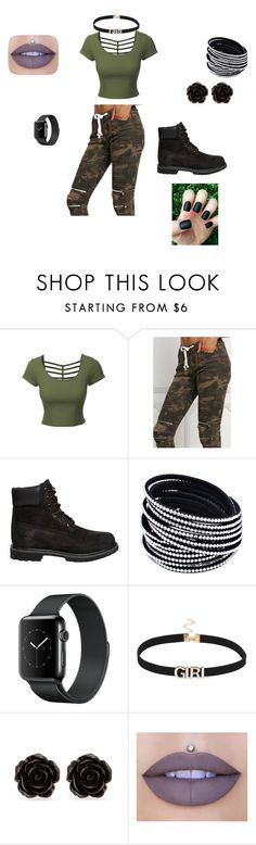 """""""Camo and Black"""" by brittrolon on Polyvore featuring LE3NO, Timberland, Erica Lyons and Jeffree Star"""