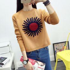 Dcost Khaki Acrylic Printed Sweater #Sweater