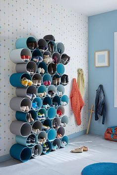 15 Simple DIY Shoe Storage Ideas For Best Home Organization Shoe Storage Design, Diy Shoe Storage, Rack Design, Bedroom Storage, Storage Ideas, Entryway Storage, Small Storage, Storage Rack, Shoe Rack Models
