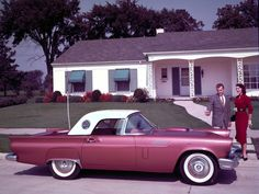 1957 Ford Thunderbird. I could have purchased a used one in the lates 60s but I couldn't get fit my friends inside.