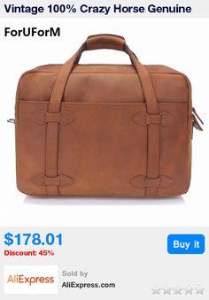 Vintage 100% Crazy Horse Genuine Leather  Luggage Travel Bag Men Duffel Bag Large Men Leather Duffle Bag Weekend Tote LI-1409 * Pub Date: 19:59 Jul 11 2017