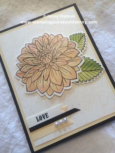 Dahlia Stamping Journey with Jenny