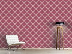 Design #Tapete Englische Rosen Natur