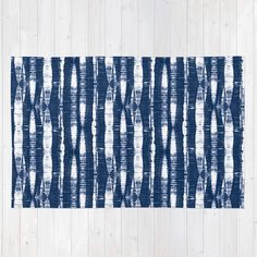 Buy Shibori Stripes Indigo Blue Rug by followmeinstead. Worldwide shipping available at Society6.com. Just one of millions of high quality products available.