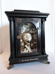 Real Vervet Monkey Skull Reliquary, OOAK. Dellamorte & Co., via Etsy.