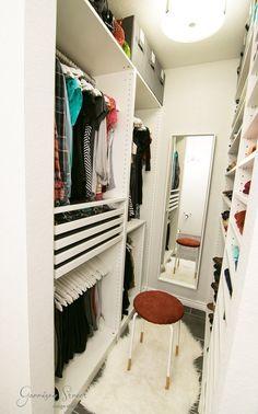 Narrow closet organization diy walk in 70 Ideas for 2019 Walk In Closet Small, Walk In Closet Design, Bedroom Closet Design, Master Bedroom Closet, Small Closets, Closet Designs, Diy Bedroom, Dream Bedroom, Bathroom Closet