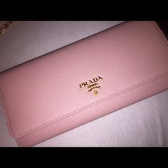 8e5ee220f5f873 Pink Prada wallet on chain Beautiful WOC prada purse. Used a handful of  times.