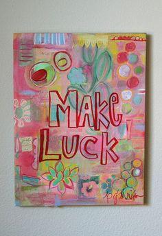 make luck by pam garrison, via Flickr