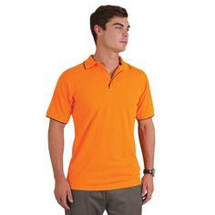 Show details for Contrast Trim Pique Knit Polo Golfers, Contrast, Polo Shirt, Knitting, Mens Tops, Shirts, Fashion, Pique, Moda