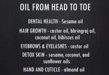 OIL FROM HEAD TO TOE