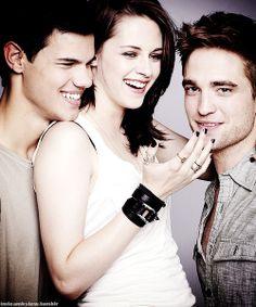 Taylor Lautner, Kirsten Stewart, and Robert Pattinson