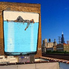 While we last heard from them last month in New York City, Icy & Sot are now in Chicago where they were invited to paint by WAT-AAH!.The Iranian duo painted this signature piece in support of the First Lady's Partnership for a Healthier Americas Drink Up initiative to encourage kids to drink more water more often. This