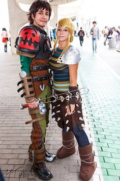 Hiccup and Astrid - How to Train your Dragon 2 by EvilSephiroth89.deviantart.com