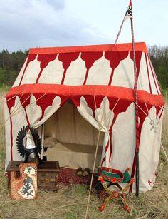 "Reconstruction of knight's tent 14th century Researchgroup ""Хранители"",""Цитадель"""