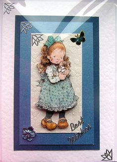 Puppy Love HandCrafted 3D Decoupage Card  Best by SunnyCrystals, £1.75