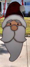 Santa Stained Glass Suncatcher