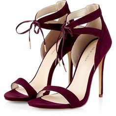 Burgundy Tie Front Cut Out Heels. These are so sexy and would look great with an LBD