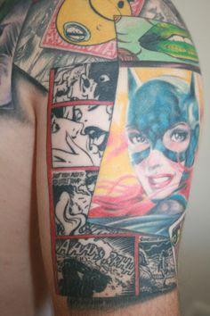 Batgirl comic tattoo