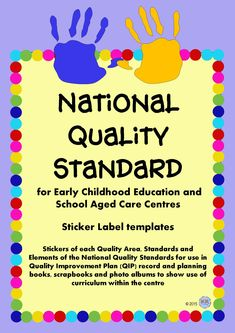 National Quality Standards NQS Stickers Labels for School Aged Care, Early Years Kindergarten Learning, Learning Centers, Early Learning, Teaching, National Quality Framework, Learning Stories, Aged Care, Teacher Planner, Early Childhood Education