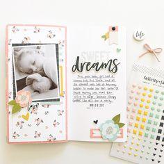 Sweet Dreams Travelers Notebook Spread by Mandy Melville | @FelicityJane