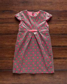 Petit Lem Girls' 'Retro Charm' Polka Dot Velvet Dress (2-6X)