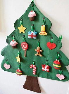 Navidad christmas felt ornaments pinterest ornament christmas decorao infantil para rvore de natal solutioingenieria Image collections