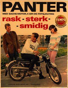 Norsk Tempoklubb   Temposhop Wheels, Ads, Funny, Vintage, Motorbikes, German, Funny Parenting, Vintage Comics, Hilarious