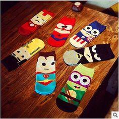 Minions Marvel DC Comics Ankle Socks