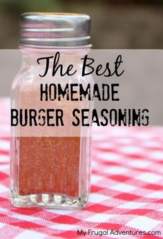 How to Make Hamburger Seasoning -- this simple seasoning will really amp up your burgers for grilling season!