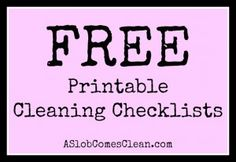 Free printable cleaning checklists- collection
