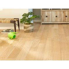 Floor and Decor: Ceruse Blonde Oak Wire Brushed Water-Resistant Engineered Hardwood - x 6 - 100503218 Unfinished Hardwood Flooring, Hardwood Floor Colors, Refinishing Hardwood Floors, Engineered Hardwood Flooring, Basement Flooring, Floor Refinishing, Natural Flooring, Blonde Wood, Wire Brushes