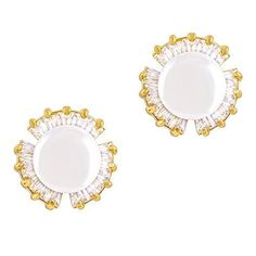 18k Gold Plated White Simulated Shell Pearl with Cubic Zirconia Petal Stud Earrings (7-7.5 mm).More info for cross earrings;sterling earrings;rhinestone earrings;rose gold stud earrings;gold hoop earrings could be found at the image url.(This is an Amazon affiliate link and I receive a commission for the sales)