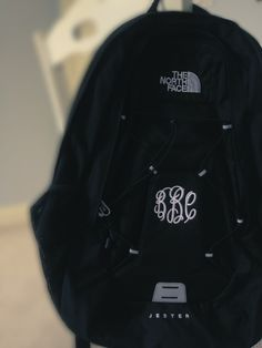 A monogrammed backpack, I mean if its not monogrammed is it really yours?