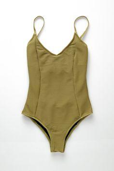 9bb5f8e858 Signature Onepiece - Olive Pre-order Retro Swimwear, One Piece Swimwear,  Summer Trends