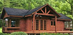 Cabin Homes, Log Homes, Cabin House Plans, Home Exterior Makeover, Shed Roof, Backyard Patio Designs, Wooden House, Tropical Houses, Luxurious Bedrooms