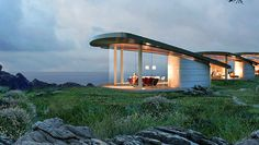 These net-zero energy pavilions designed for Big Sur, California are completely…