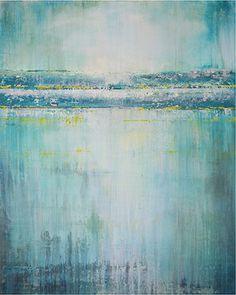 Lake Impression #10, Bill Judkins, 2015, 48x60x1.5, acrylic, dye, plaster
