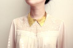 #golden Peter Pan collar